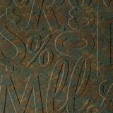 10' Wide x 4' Long Alphabet Soup Pattern Copper Fantasy Finish Thermoplastic Flexlam Wall Panel