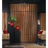 10' Wide x 4' Long Wavation Pattern Oil Rubbed Bronze Finish Thermoplastic Flexlam Wall Panel