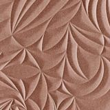 10' Wide x 4' Long Sculpted Petals Pattern Argent Copper Finish Thermoplastic Flexlam Wall Panel