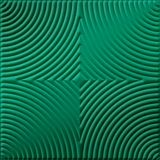 FlexLam 3D Wall Panel | 4ft W x 10ft H | Curvation Pattern | Mirror Green Finish