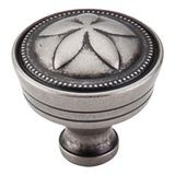 "Star Knob 1 5/16"" Cc Diameter Antique Pewter"