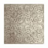 Tin Plated Stamped Steel Ceiling Tile | Nail Up/Glue Up Ceiling Tile | 2ft Sq | Antique White Finish