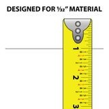 1-1/4in | Clear PVC | Ticket and Inventory Tag Moulding | with Adhesive | 8ft Long