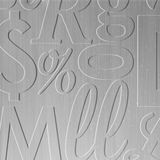 FlexLam 3D Wall Panel | 4ft W x 10ft H | Alphabet Soup Pattern | Brushed Aluminum Finish