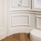 Orac Decor | High Impact Flexible Polyurethane Panel Moulding | Primed White | 4-3/4in H x 78in Long