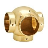 1-1/2in Dia x 3-1/4in H | Polished Brass Finish | Ball Fitting | Series S82-206