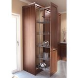 "13 3/4""W Chrome Pantry Pull Out 67""   76 3/4"" Height"