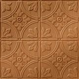 10' Wide x 4' Long Boston Pattern Brushed Copper Finish Thermoplastic Flexlam Wall Panel