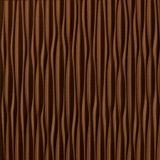FlexLam 3D Wall Panel | 4ft W x 10ft H | Sahara Pattern | Linen Chocolate Vertical Finish