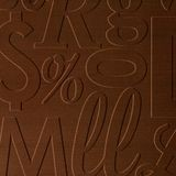 10' Wide x 4' Long Alphabet Soup Pattern Linen Chocolate Finish Thermoplastic Flexlam Wall Panel