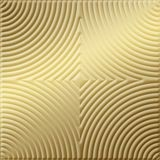 10' Wide x 4' Long Curvation Pattern Mirror Gold Finish Thermoplastic Flexlam Wall Panel