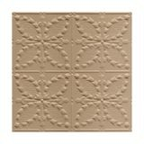 Tin Plated Stamped Steel Ceiling Tile | Nail Up/Glue Up Ceiling Tile | 2ft Sq | Enchanted Sand Finish