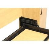 "Single/ Twin- Queen Length Alpha Panel Bed Hardware Kit with 13"" Leg"