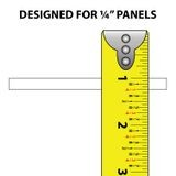 "White 1/4"" Polypro Plastic Hinge  12ft Long"