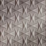 10' Wide x 4' Long Bowtie Pattern Brushed Nickel Finish Thermoplastic Flexlam Wall Panel