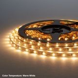 "1/4"" (6mm) Wide LED Tape Flexible Strip Lighting 2835 Chip Warm White 3000K 2.2 Watts 
