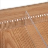 48in Clear | Standard Binning Strip | with Adhesive for 1/4in Divider