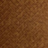 10' Wide x 4' Long Herringbone Pattern Antique Bronze Finish Thermoplastic Flexlam Wall Panel