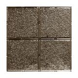 Tin Plated Stamped Steel Ceiling Tile | Lay In | 2ft Sq | Copper Finish