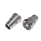 4.3-10 Female to 7/16 Female  Straight Adapter, Low PIM, White Bronze Body, Silver Contact Plating, 50 Ohm