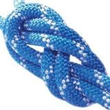 12.5 MM BLUE/WHITE STATIC KERNMANTLE ROPE, WITH ONE SEWN IN EYE, 600 FT.