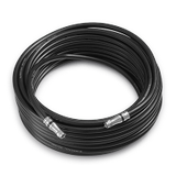 100' RG-11 Low Loss Coax Cable with F-Male Connectors - Black