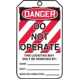 Accuform® MLT400LTP Safety Tag: DANGER DO NOT OPERATE (LOTO)