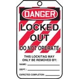 Accuform® MLT407 Safety Tags: DANGER LOCKED OUT DO NOT OPERATE