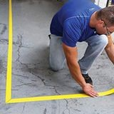 Accuform® Tough-Mark™ PTP202YL Heavy-Duty Floor Marking Strips