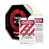 Accuform® TAR125 Tags By-The-Roll: DANGER DO NOT OPERATE (LOTO)