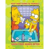 Accuform® S1138 The Simpsons™ Safety Poster: Keep Your Germs To Yourself - Wash Your Hands Often to  Prevent the Spread of Germs Including Novel Coronavirus (COVID-19)