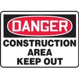 Accuform® MCRT101VS Safety Sign: DANGER CONSTRUCTION AREA KEEP OUT