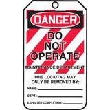 Accuform® MLT401LTP Safety Tag: DANGER DO NOT OPERATE MAINTENANCE DEPARTMENT (LOTO)