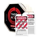 Accuform® TAR426 Tags By-The-Roll: DANGER LOCKED OUT DO NOT OPERATE (LOTO)