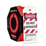 Accuform® TAR472 Tags By-The-Roll: DANGER DO NOT OPERATE (LOTO)