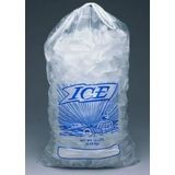 Elkay Plastics® Clear Printed Metallocene 10 Lb Ice Bag with Drawstring Closure (H19Pds)