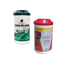 Packaged Cleaning & Sanitizing Wipes