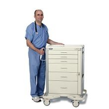 Premier Aluminum Solid Color Anesthesia Carts / Mobile Workstations