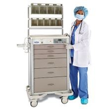 Aluminum Wireless Auto-Locking Cart with Controlled Substance Drawer