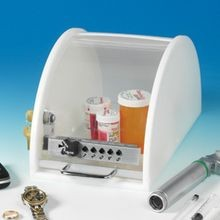 Push-Button Locking Clearview Security Drug Box with Key Override
