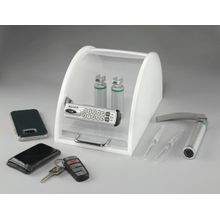 Electronic Push-Button ClearView Security Drug Box with Key Override (manual locking)