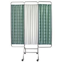 Three-Section Privacy Screens with Casters