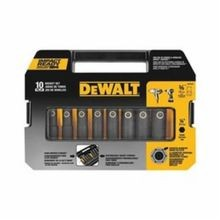 DeWALT DW22838 SAE Standard Length Impact Socket Set, 10 Pieces, 3/8 in Drive, 6 Point, Alloy Steel, Metal Gray