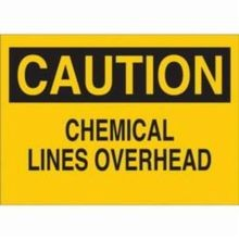 Brady 76073 Rectangular Chemical and Hazardous Material Sign, 10 in H x 14 in W, Black on Yellow, Corner Hole Mount, B-120 Fiberglass