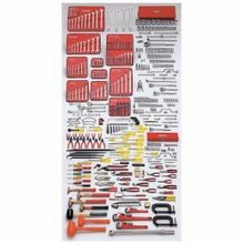 Proto Ergonomics J99720 Intermediate SAE Tool Set, Box Tool Storage, 1/4 in, 3/8 in, 1/2 in, 3/4 in Drive, 453 Pieces, ANSI Specified