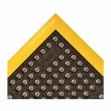 NoTrax 549S2640YB Safety Stance 549 Rectangle Anti-Fatigue Floor Mat, 26 in W x 40 in L, 7/8 in THK, Black/Yellow, Rubber
