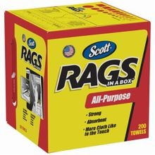 Scott 75260 Multi-Purpose All Purpose Rag, 10 in W x 13 in L, White