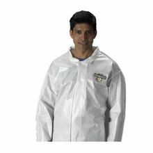 Lakeland C44412-5X Chemical Resistant Coverall 5XL White ChemMax 2 (Spunbond Non-Woven), 64 to 66 in Chest, 29 in Inseam
