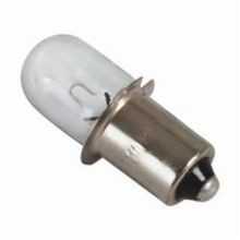 Milwaukee 49-81-0030 Replacement Work Light Bulb, 10.8 W, Incandescent Bulb, Miniature Flanged Base, Blunt Tip