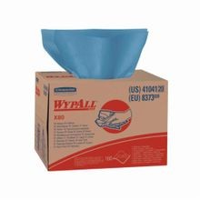 WypAll* ShopPro 41041 X80 Disposable Wiper, Hydroknit*, Blue